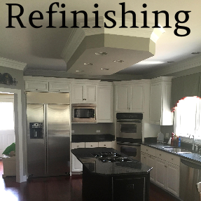 D.F. Painting fully refinishes kitchen cabinets